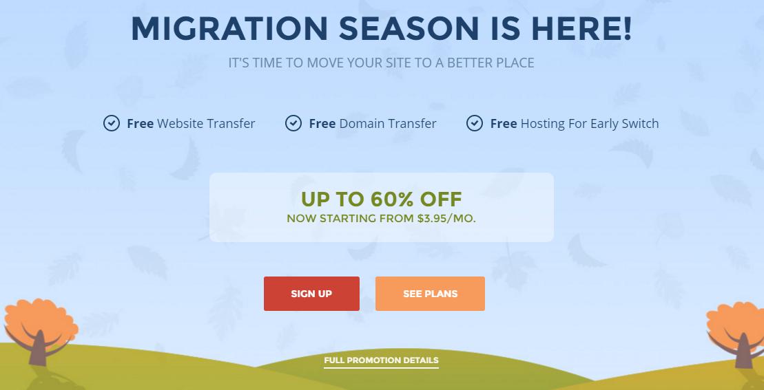 SiteGround tặng 6 tháng hosting