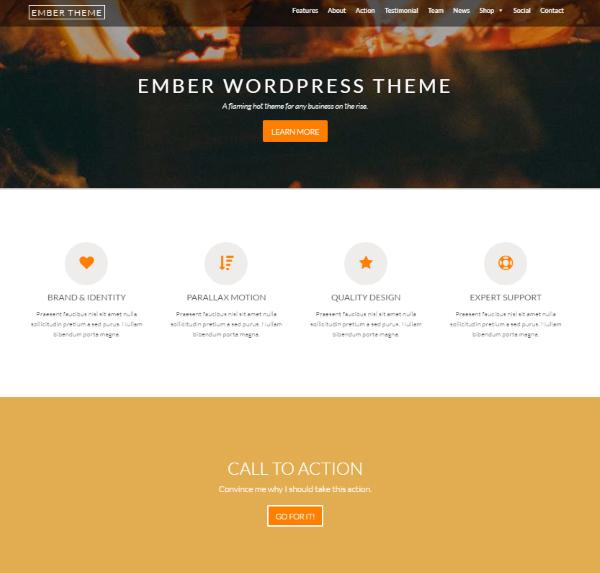 Themes tối ưu cho SEO 2016 Ember Theme