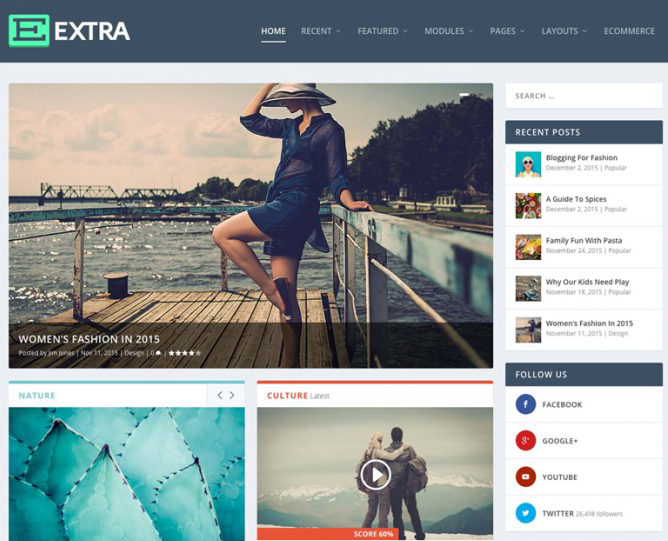 Optimal themes for SEO 2016 Extra Theme