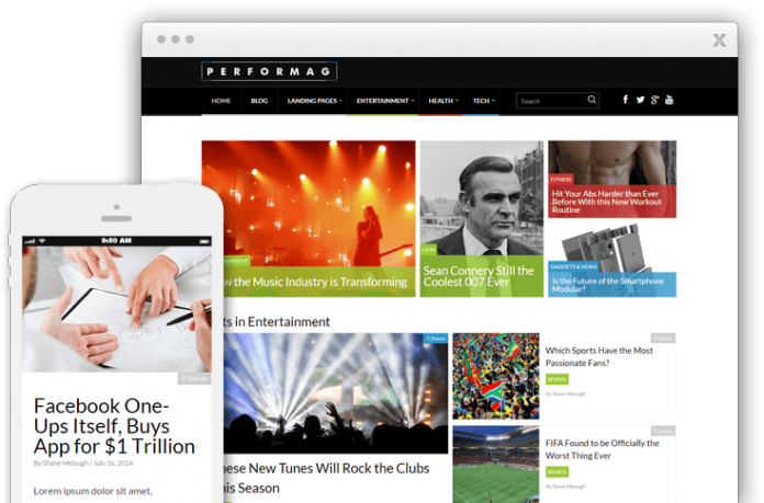 SEO optimized themes for 2016 Performag theme