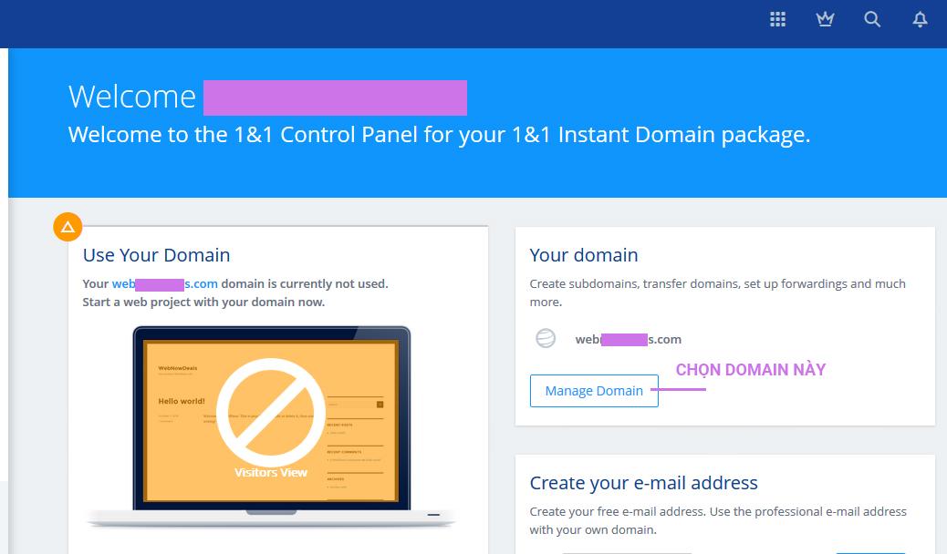 Trong phần này,chúng ta sẽ không dùng NameServers của Domain,mà chỉ định cho Domain dùng NameServers của nhà cung cấp Hosting/VPS bằng cách thay các NS Records mặc định của Domain bằng NS Records của Hosting/VPS.