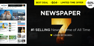 themeforest giảm giá 50% Newspaper