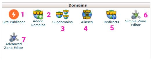 các-phần-chính-trong-mục-Domains-trong-cPanel