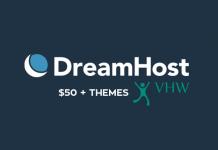 DreamHost giảm 50%