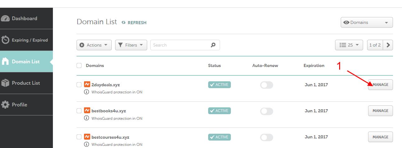 Cách push domain namecheap sang account khác