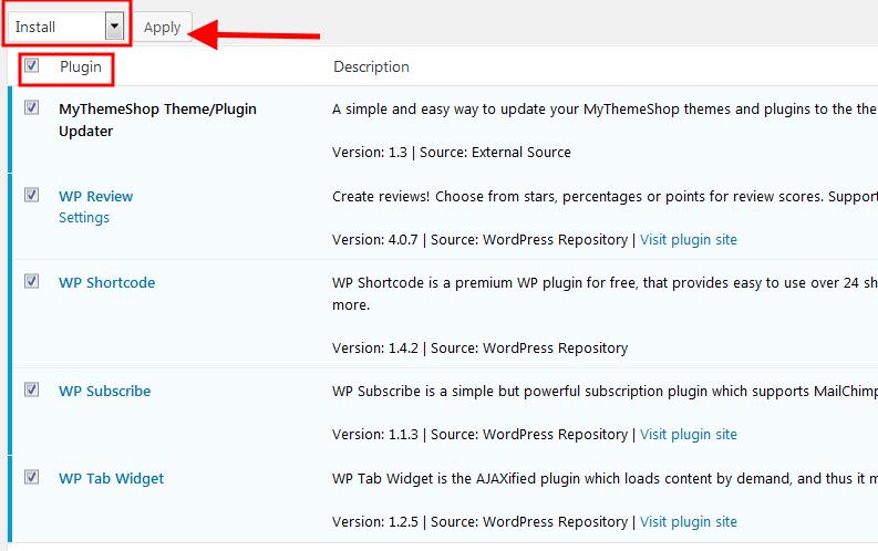 Cài các plugins cần thiết