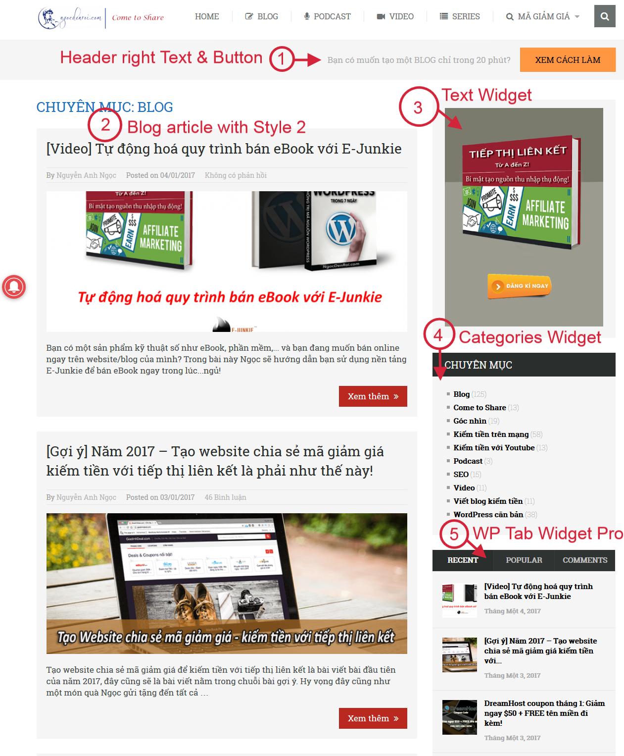 Xây dựng blog chuyên nghiệp trong 1 giờ - VHW Tuts