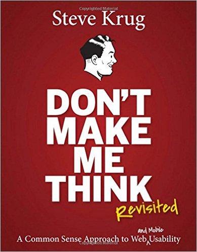 Sách học webdesign hay nhất 2017 - Dont Make me think - Steve Krug