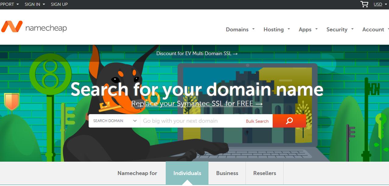 Xây dựng một wordpress website chuyên nghiệp - Chọn Domain và SSL từ Namecheap