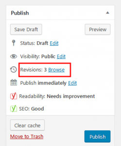 Limit Revisions to speed up WordPress