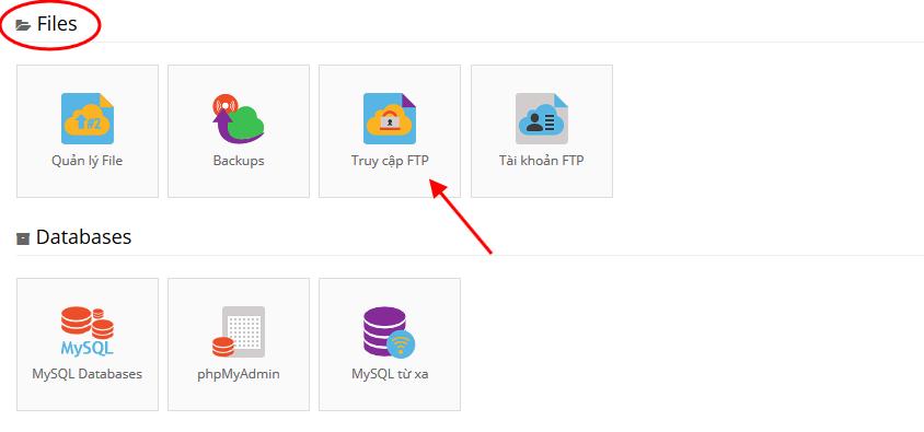 Truy cập thông tin FTP từ Free Hosting của Hostinger