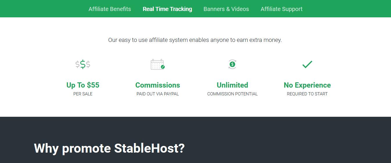 Chương trình Tiếp thị liên kết của StableHost có commission hấp dẫn