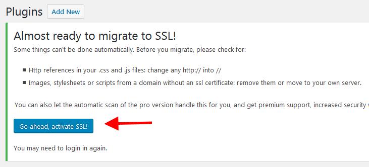 Dùng SSL trên WordPress