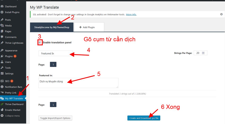 Translate MyThemeShop