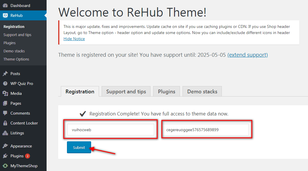 Rehub Registration