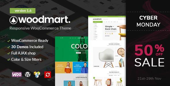 WoodMart - theme bán hàng chuẩn seo và cực nhẹ