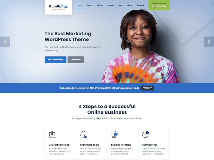 GrowthPress - SEO & Marketing Theme WordPress