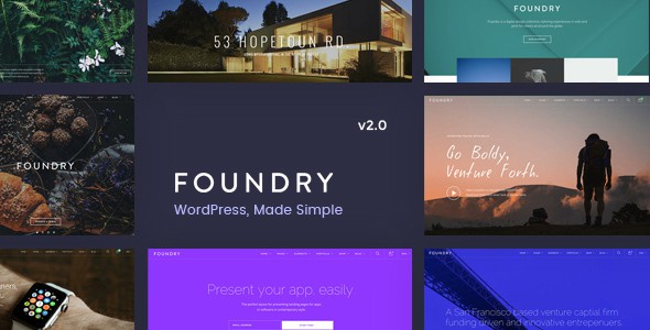 Foundry theme trên Envato Elements