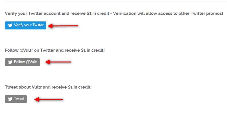 Kết nối Twitter để nhận VPS miễn phí Vultr