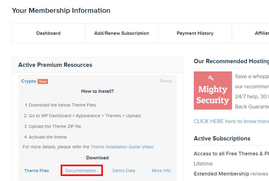Tài liệu MyThemeShop - VHW Agency