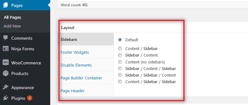 Disable Elements Addons