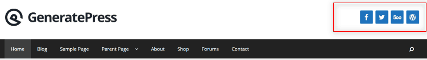 GeneratePress Header Widget