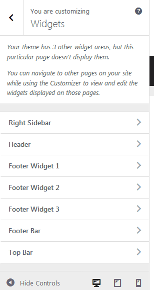 GeneratePress Widgets Option