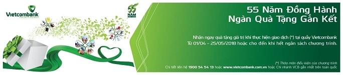 Vietcombank miễn phí Visa Debit