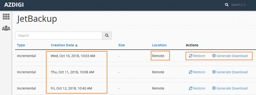 JetBackup giúp backup tự động khi có thay đổi trên Website - Hosting_1