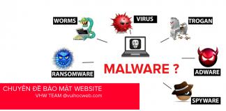 Các loại Malware - Hiện tượng Web bị nhiễm mã độc