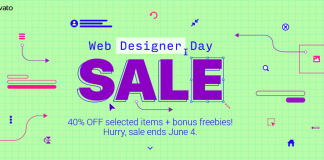 Khuyến mại Envato Webdesigner Day