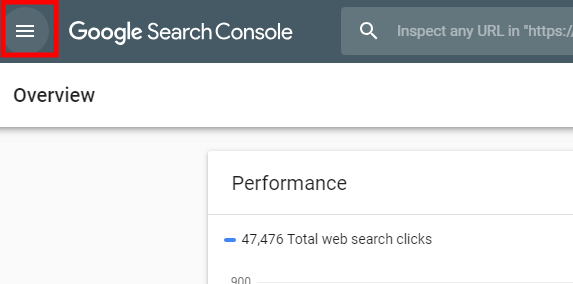 Mở Menu Google Search Console