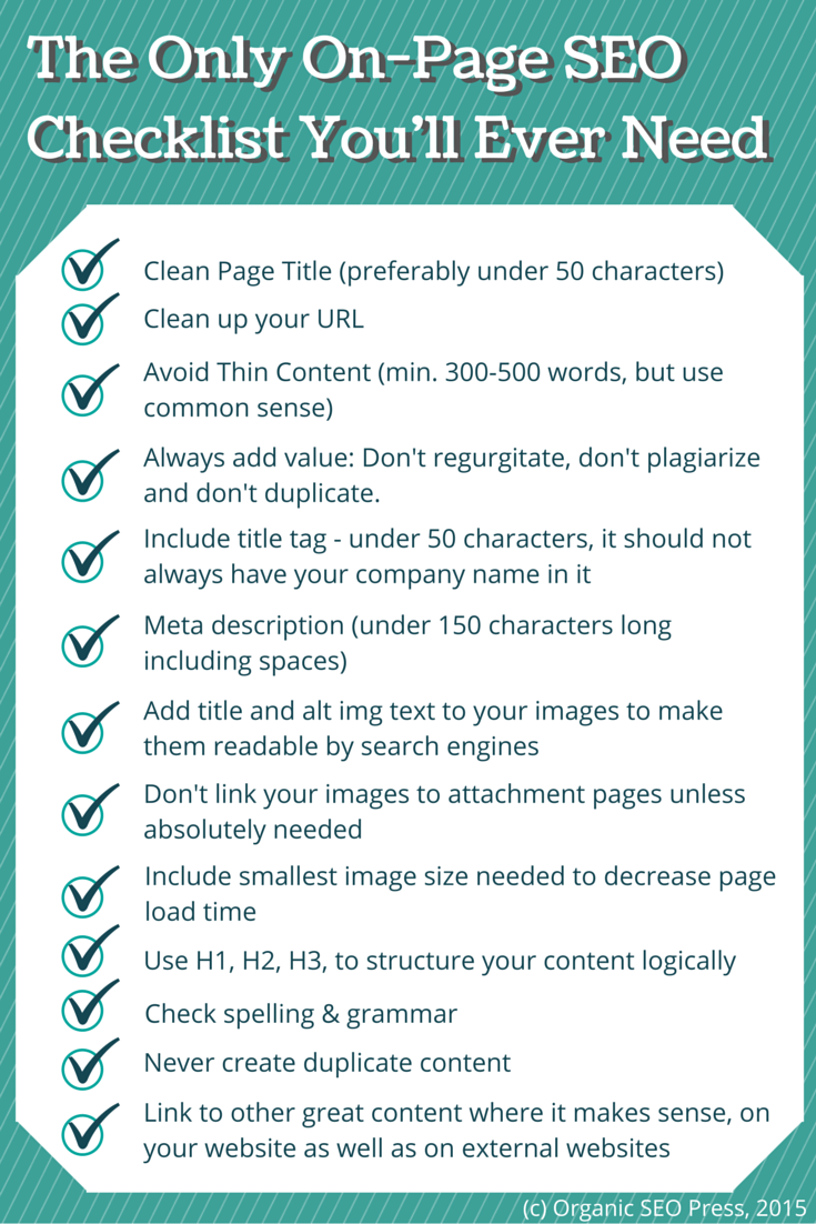 The-Only-On-Page-SEO-Checklist