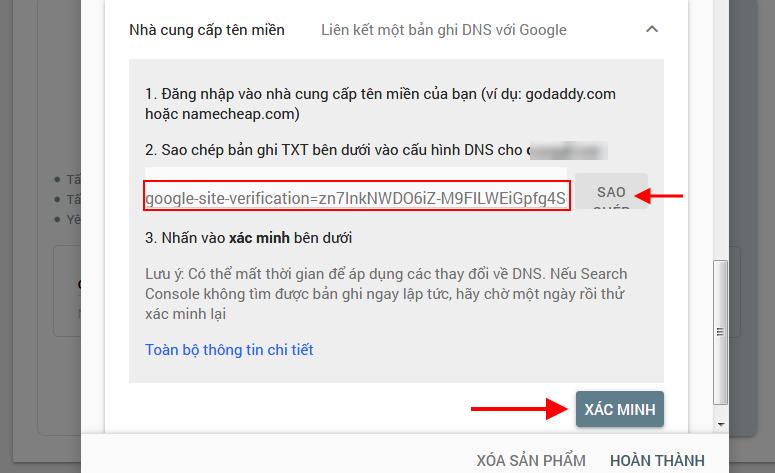 Xác mình sở hữu Website bằng cách tạo TXT DNS Record
