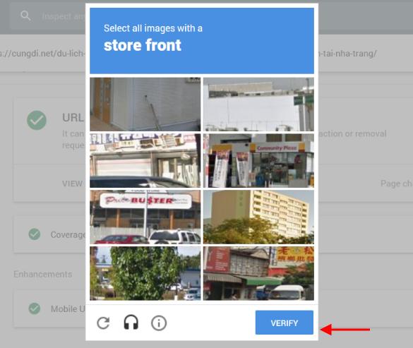 Cách để Google Index nhanh trong 5 phút (mới nhất): Xác thực Captcha Google