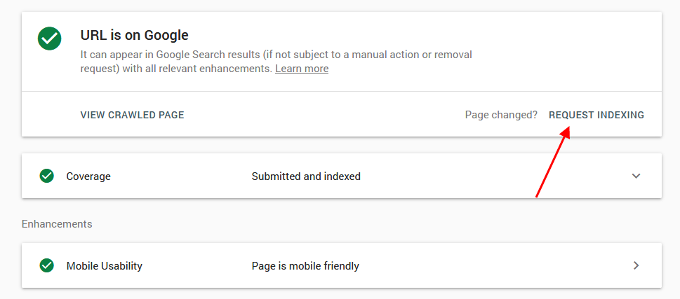 Ask Google Index to re-write the article