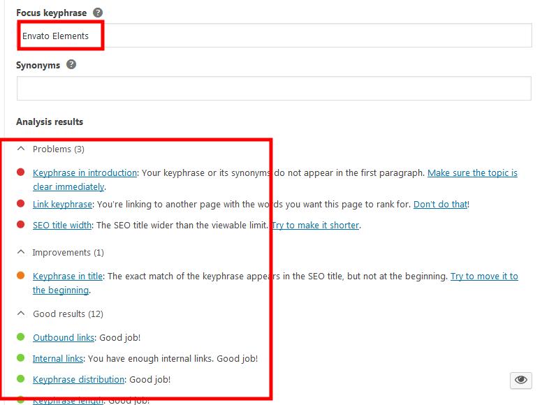 Yoast SEO chấm điểm tối ưu keyword để viết bài chuẩn SEO