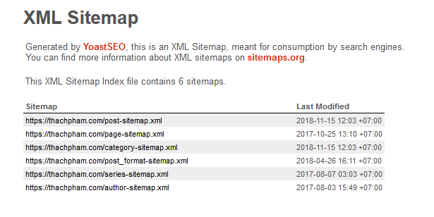 Yoast SEO giúp tạo Sitemaps cho Website WordPress