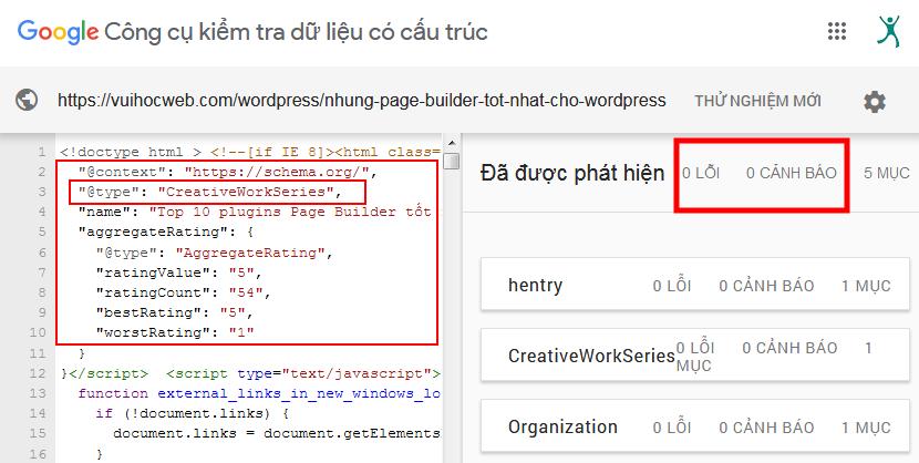 Cập nhật Structured Data Type CreativeWorkSeries