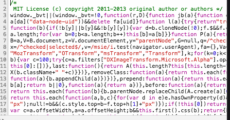 Minify JS