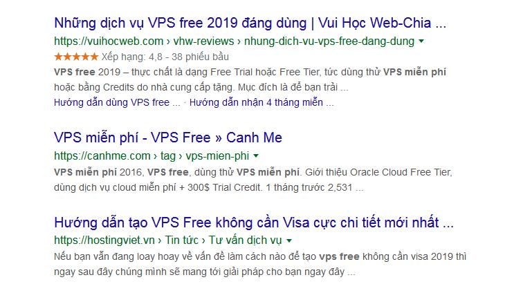 VPS Free - VPS Miễn phí tốt nhất