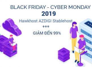 Hosting Black Friday 2019 - Giảm đến 99%