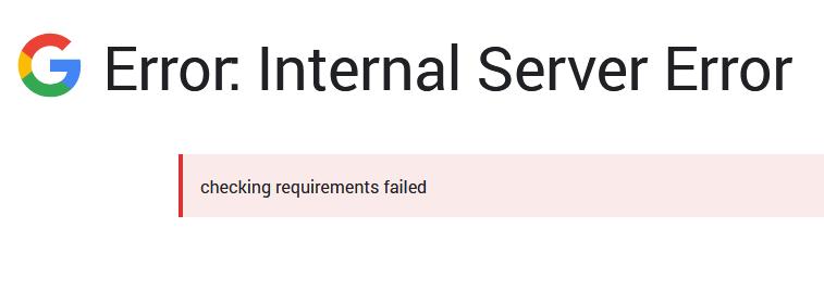 Lỗi khi thiết lập Google Site Kit