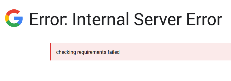 Error setting up Google Site Kit