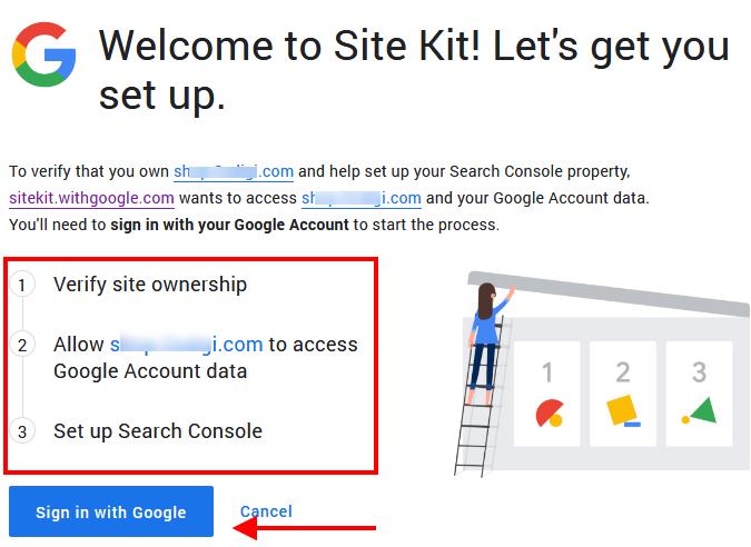 Xác thực Google Site Kit