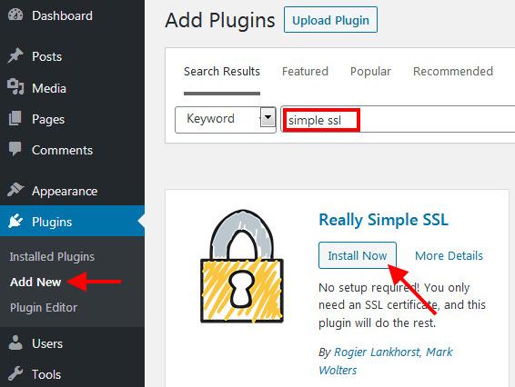 Cài Really Simple SSL