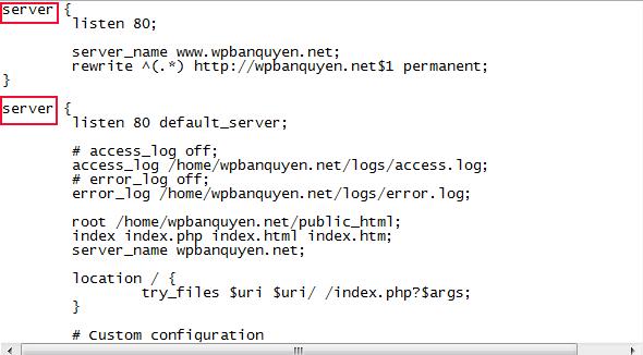 File cấu hình nginx gốc của VPS