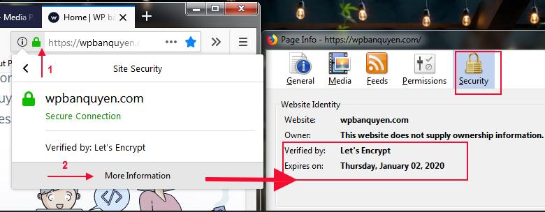 Kiểm tra ngày hết hạn SSL Lets Encrypt